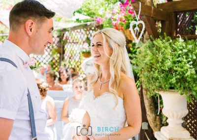 Ceremony for Bride and Groom at Casa Do Largo by Birch Photography